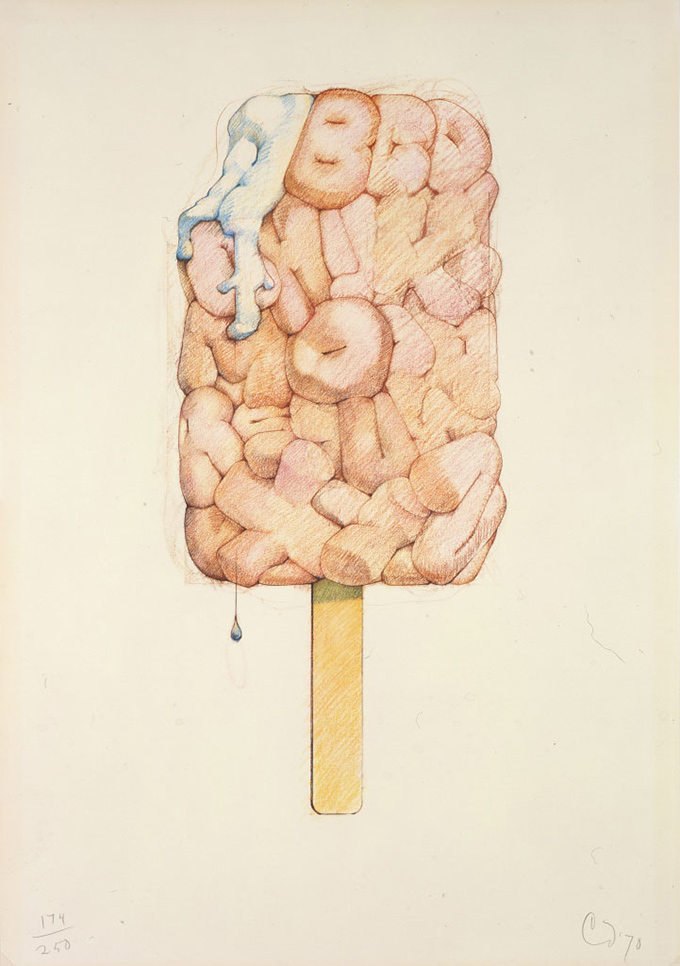 "Claes Oldenburg's lithograph, ""Alphabet in the Form of a Good Humor Bar"""
