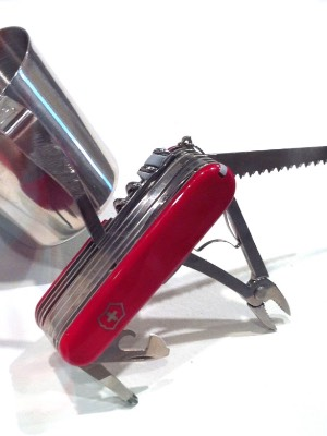 Untitled (swiss army knife cup)