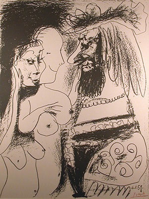 "Pablo Picasso's lithograph, ""The Old King"""